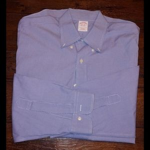 Brooks brothers small check pattern button down
